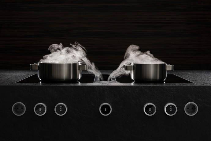 kookplaat met afzuigkap